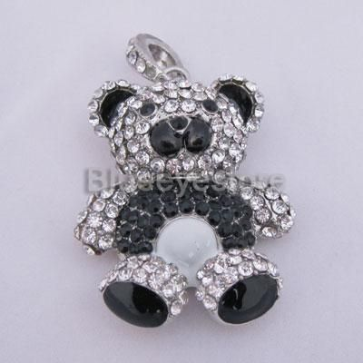 16GB Swarovski Crystal Bear USB Flash Memory Pen Drive