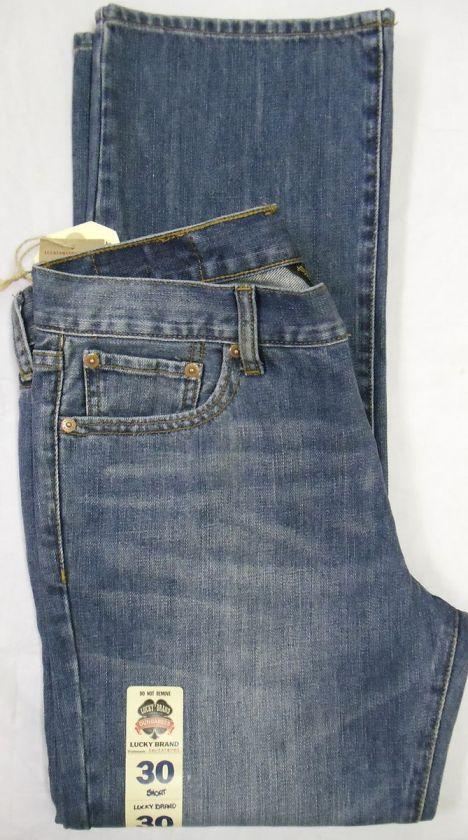 Lucky Brand Vintage Straight Jeans Men Sz 30 Short Medium 617089721797